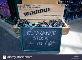 borough market sign clearance stock sign on a warbird box full of bottles of beer