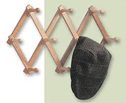 expanding peg rack 10 hooks hardwood multi purpose vertical or