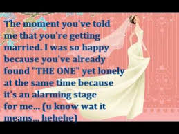 Wedding Wishes Lyrics A Message To My Bestfriend On Her Wedding Day Youtube