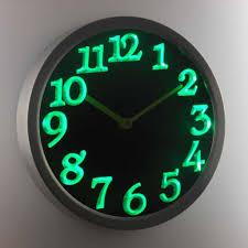 night light wall clock u2013 modern bit of workmanship lighting and