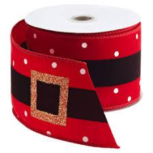 santa belt ribbon santa s belt wired ribbon the container store