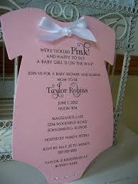 customized invitations custom baby shower invitations for girl 16342