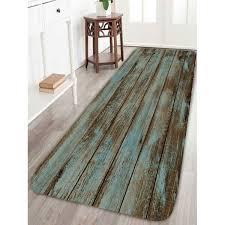 Rug For Bathroom Floor Vintage Wood Grain Print Bathroom Rug In Green W24 Inch L71 Inch