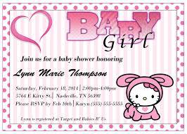 Hello Kitty Birthday Invitation Card Hello Kitty Baby Shower Invitations Cloveranddot Com