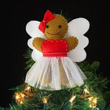 gingerbread angel christmas tree topper tree toppers