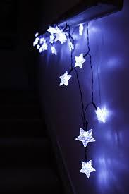 led star lights string large white star shaped covers solar