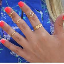 rings finger images Mittens leaves shaped joint chain finger rings set sanlax jpg