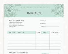Florist Invoice Template by Invoice Template Photography Invoice Business By Studiostrawberry