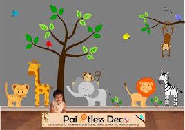 baby nursery decor classical harmless baby zoo animals nursery
