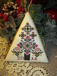 cross stitch and felt santa ornament cross stitch stitch