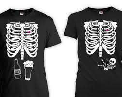 Skeleton Maternity Halloween Costumes Maternity Couple Etsy