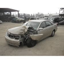 used toyota camry 2003 used 2003 toyota camry parts car gold with brown interior 4