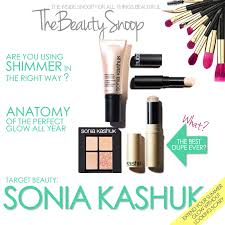 the beauty snoop target beauty sonia kashuk to get the perfect glow