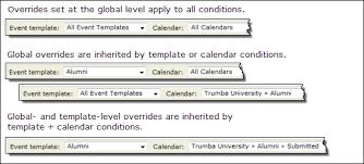 trumba help override field values