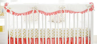 ruffle crib rail guard crib bedding bumperless baby bedding