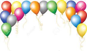 birthday balloons happy birthday border of colourfull balloons royalty free
