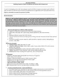 Resume Format For Overseas Job by Welding Inspector Resume Http Resumesdesign Com Welding