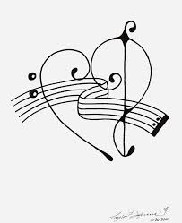 home treble clef treble clef and bass forming heart coloring page