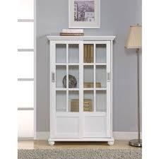 Metal Bookcase With Glass Doors Livingroom Metal Bookcase With Sliding Doors Antique Glass White