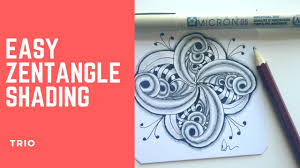 zentangle pattern trio how to shade zentangle pattern trio youtube