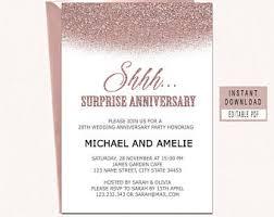 anniversary party invitations anniversary invites etsy