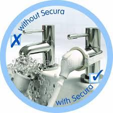 white croydex secura safe shower head hose spray set bath basin
