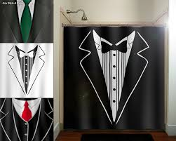 Shower Curtains For Guys Groom Tuxedo Dinner Suit Tie Mens Shower Curtain Fabric