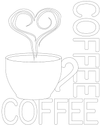 coffee embroidery pattern coffe coloring pages pinterest