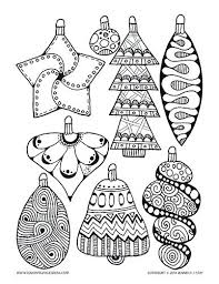 ornament coloring page pdf tree ornaments pages printable for