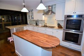 walnut eco pro island countertop with curved edge eco pro wood
