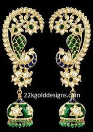 kaan earrings odissi peacock kaan earrings this peacock shaped earring is one