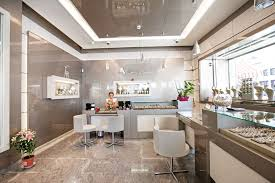 jewelry shop flooring with modern interior design and small