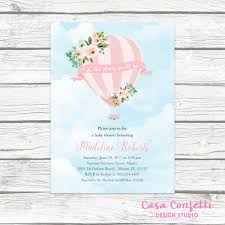air balloon baby shower invitation air balloon invitation