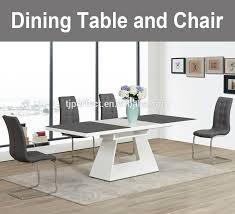 Dining Room Furniture Chemistry Modern White Leather Dining Room Set White Leather Dining Room Set