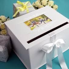 wedding gift card box 4 wedding gift card boxes in white