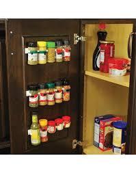 Cabinet Door Clips Spicestor Organizer Rack 20 Cabinet Door Spice Clips
