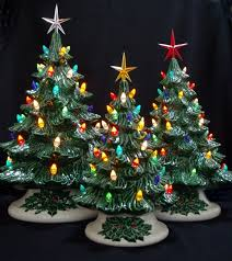 old fashioned ceramic christmas tree 3 tree by darkhorsestore
