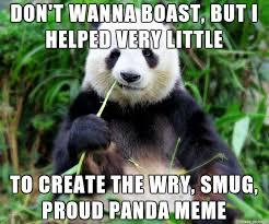 Panda Meme - birth of the proud panda meme on imgur