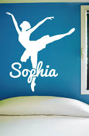 48 best ballet images on pinterest bedrooms little girl rooms custom dance name wall decal 0126 personalized dance name wall decal girls dance