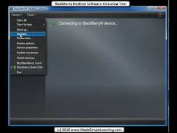 reset blackberry desktop software blackberry desktop software 6 0 overview tour youtube