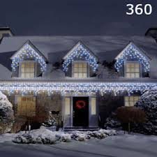 snowing icicle outdoor lights 360 led white blue super bright christmas snowing icicle lights
