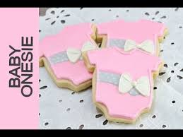 Recipe Decorated Cookies Baby Onesie Decorated Cookies For A Baby Shower Youtube