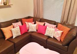 furniture college apartment decorating guide monogrammed pillows