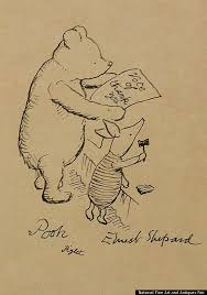 how much for a rare pooh bear sketches originals and bears