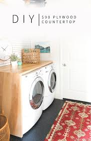 table over washer and dryer 90 diy plywood waterfall countertop vintage revivals
