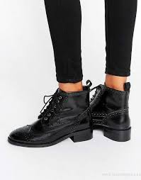 womens boots uk asos asos artistry leather lace up brogue boots black box leather