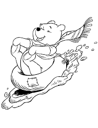 winter themed coloring pages winnie the pooh winter coloring