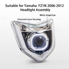 kt headlight for yamaha fz1n 2006 2012 led angel halo eye