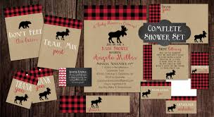 printable lumberjack baby shower baby shower invitation