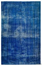 k0024789 blue over dyed turkish vintage rug kilim rugs overdyed